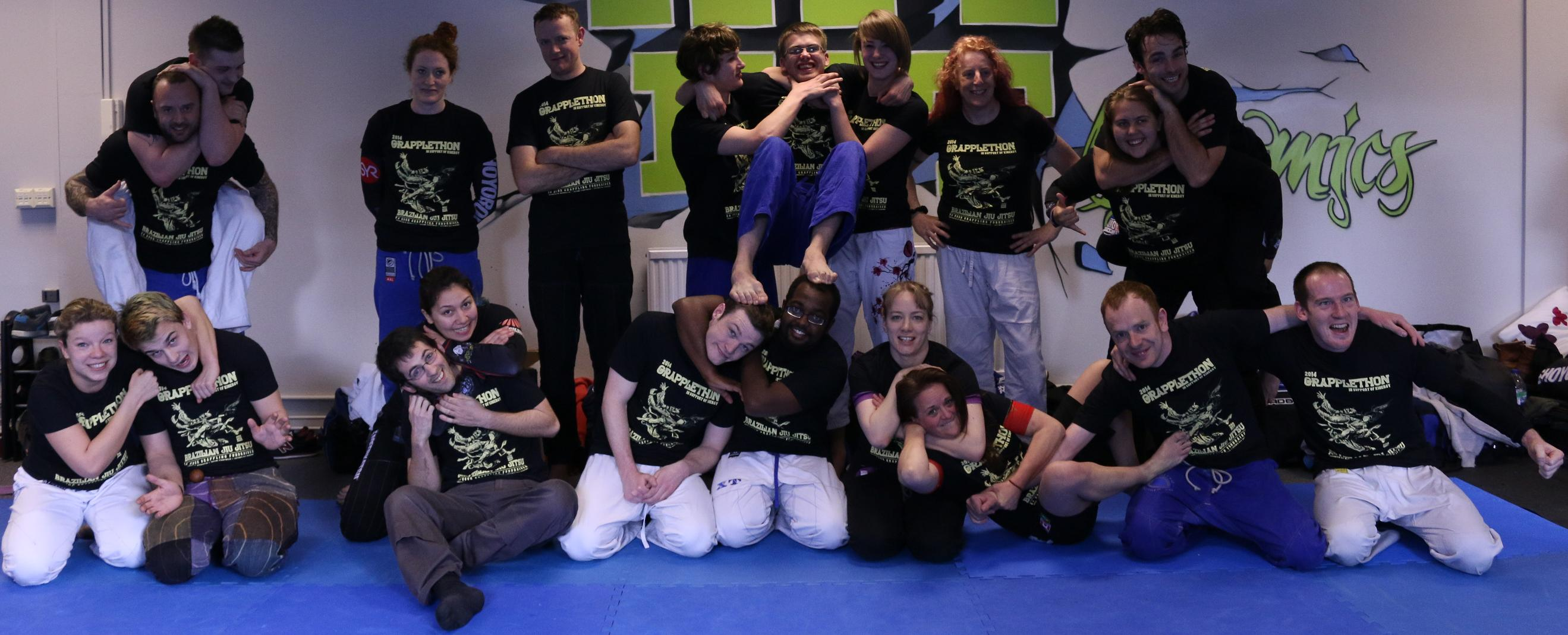 Artemis BJJ Bristol Brazilian Jiu Jitsu GrappleThon 2014 for Kinergy at Hit Fit in Longwell Green
