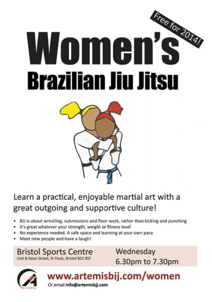 Women Only Class at Artemis BJJ, Bristol Sports Centre - A5 Poster