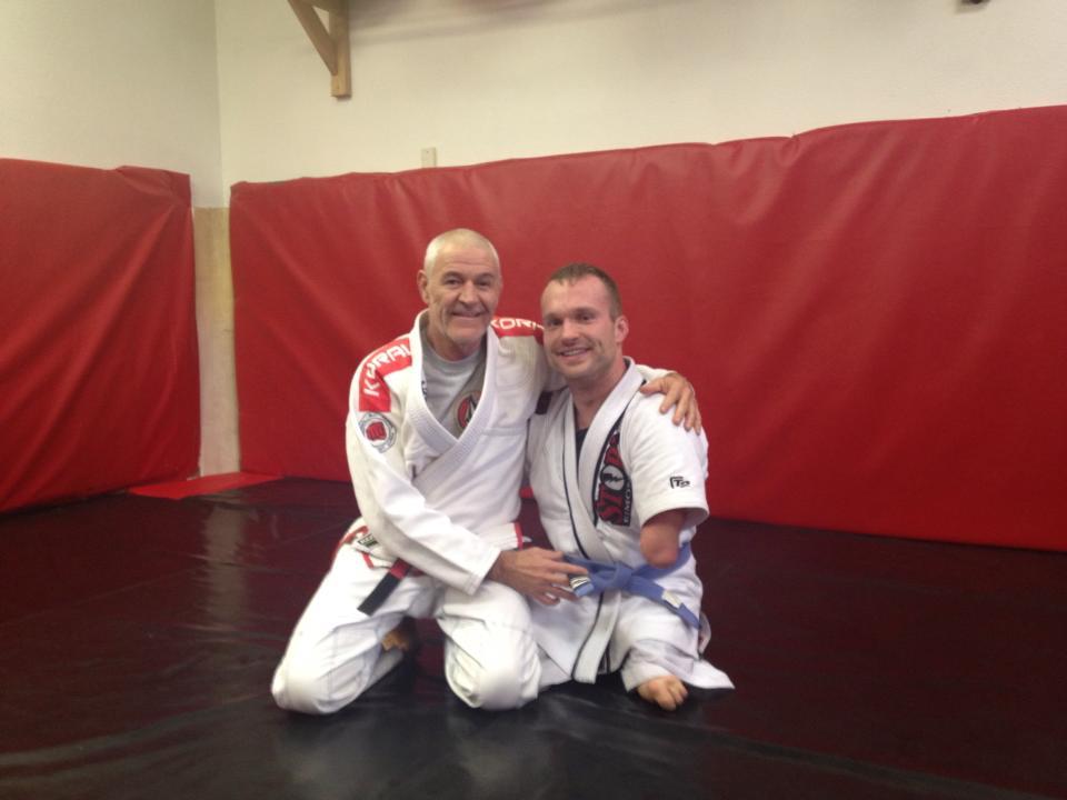 Artemis BJJ Brazilian Jiu Jitsu Bristol Fabio Santos Interview2 with Kyle Maynard