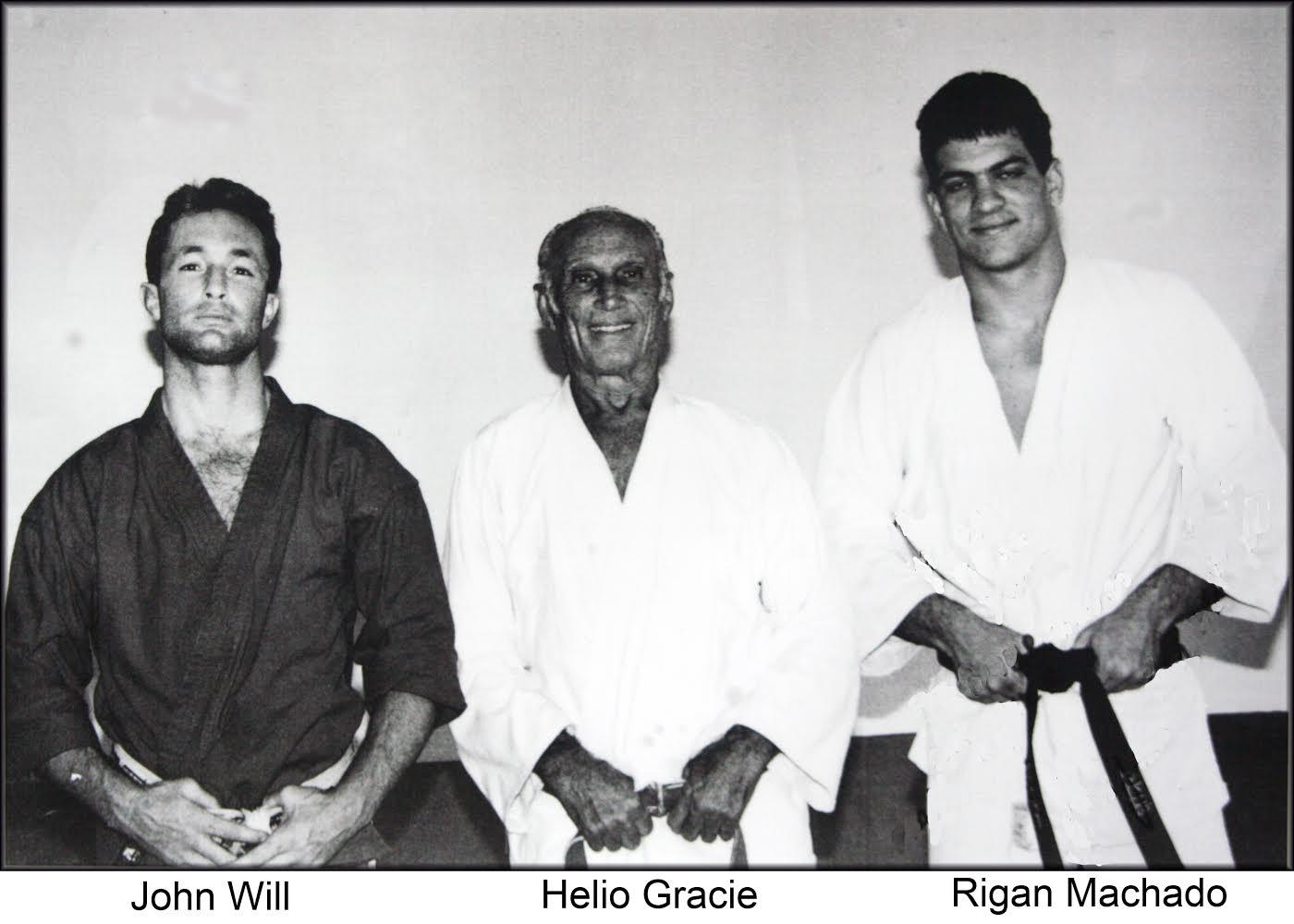Artemis BJJ Brazilian Jiu Jitsu Bristol interview with John Will, pictured with Helio and Rigan