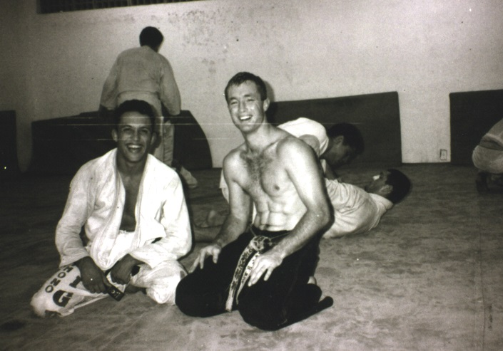 Artemis BJJ Brazilian Jiu Jitsu Bristol interview with John Will, shown with Renzo in the mid 80s