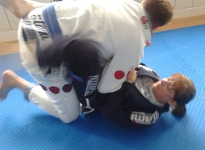 Artemis BJJ Tracey and Paul back injury adapt2