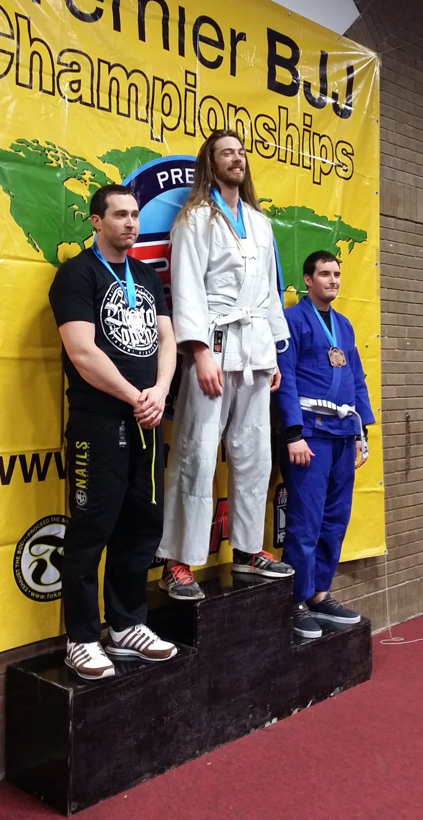 Artemis BJJ gold medal for Simon at Bristol Open Feb 2016