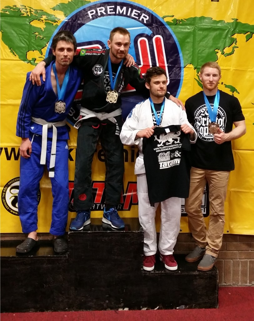 Artemis BJJ silver medal for Sam and bronze medal for Ross at Bristol Open Feb 2016