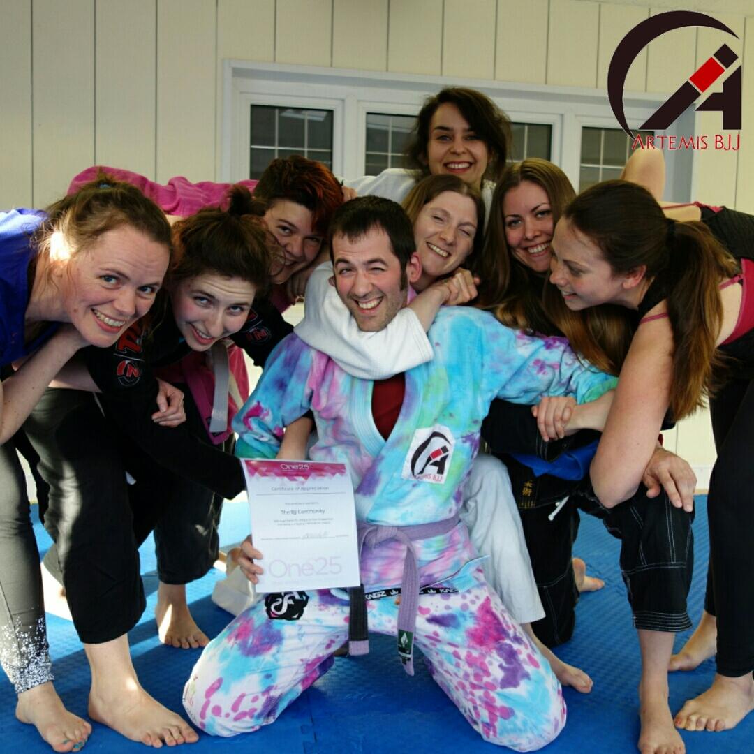 One25 Visit to Artemis BJJ women's BJJ class Brazilian Jiu Jitsu Bristol