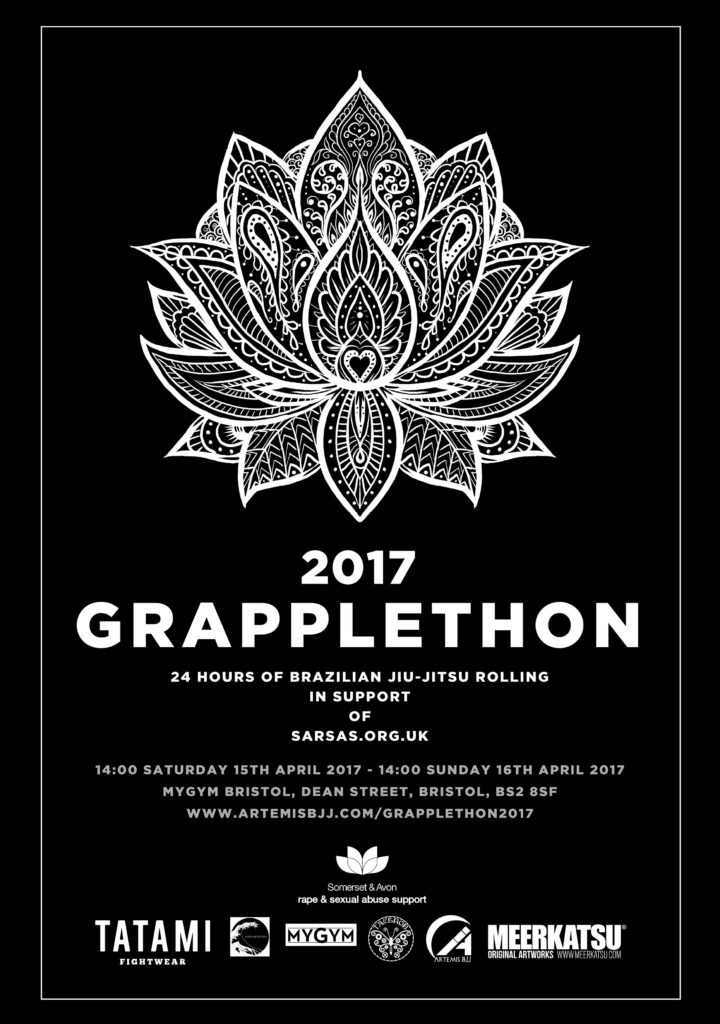 Poster for Artemis BJJ GrappleThon 2017 by Meerkatsu