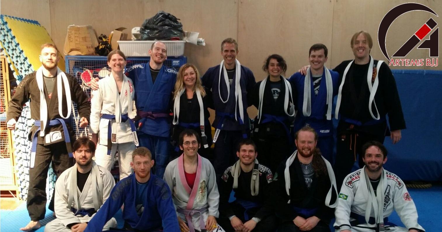Grading with Kev Capel at Artemis BJJ Bristol Brazilian Jiu Jitsu