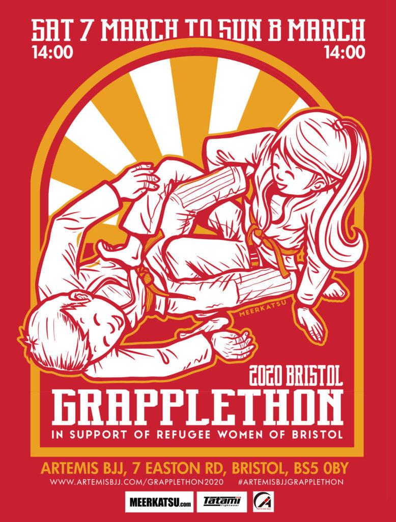 bjj grapplethon charity Bristol Artemis BJJ Brazilian jiu jitsu